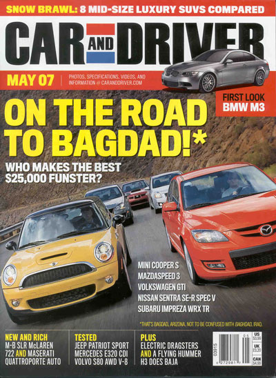 Car and Driver magazine containing a great Ravelco anti-theft article